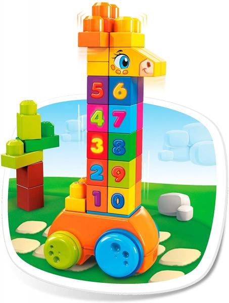 Jucarie interactiva Mega Bloks Girafa cu numere, 30 de piese 5