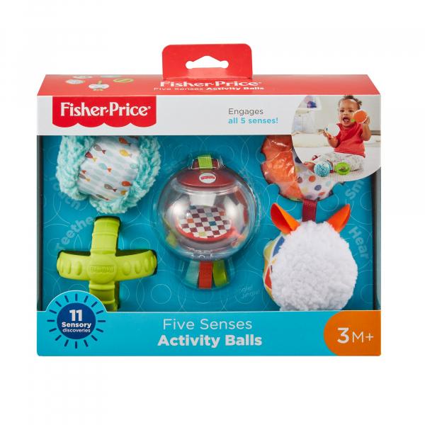 Jucarie Fisher-Price Set 5 bile senzoriale pentru bebelusi [3]