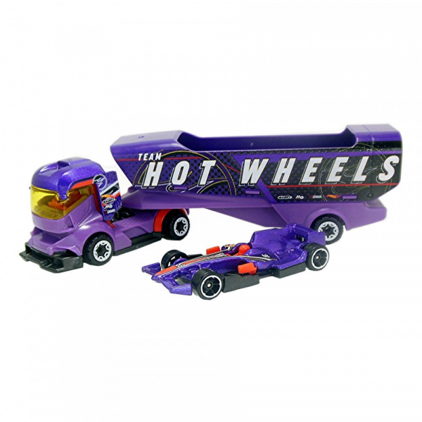 Set de joaca Mattel Hot Wheels Camion si masinuta Big Rig Heat 0