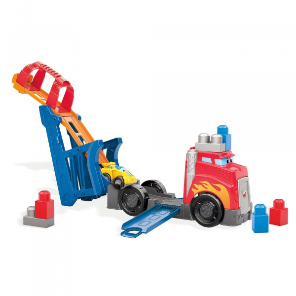 Set de constructie Mega Bloks Camion cu masinuta si pista de lansare 1