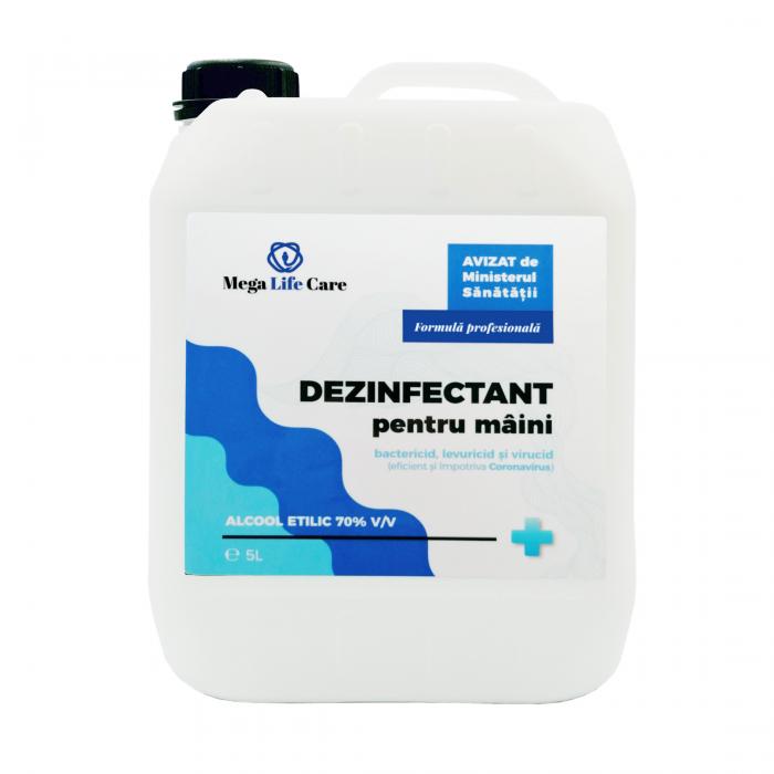 Dezinfectant pentru maini Mega Life Care, 5L, eficient si impotriva Coronavirus [0]