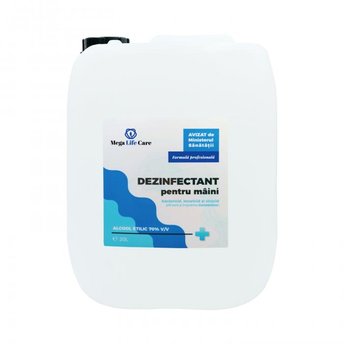 Dezinfectant pentru maini Mega Life Care, 20L, eficient si impotriva Coronavirus [0]