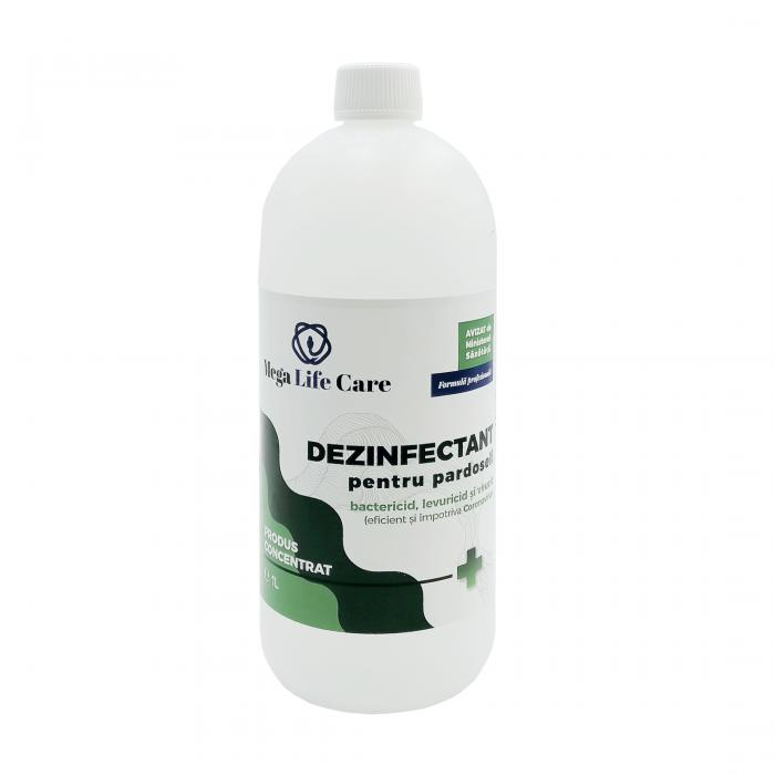 Dezinfectant pentru pardoseli Mega Life Care, 1 L, bactericid, levuricid, virucid, eficient si impotriva Coronavirus [0]
