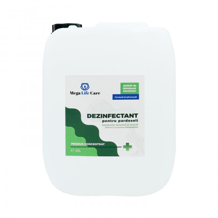 Dezinfectant pentru pardoseli Mega Life Care, 20 L, bactericid, levuricid, virucid, eficient si impotriva Coronavirus [0]