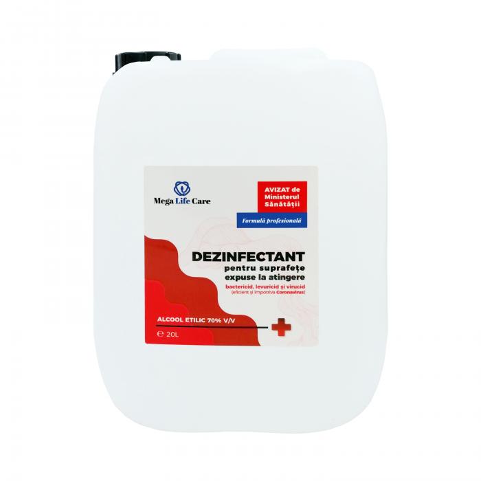Dezinfectant pentru suprafete Mega Life Care, 20 L, bactericid, levuricid, virucid, eficient si impotriva Coronavirus 0