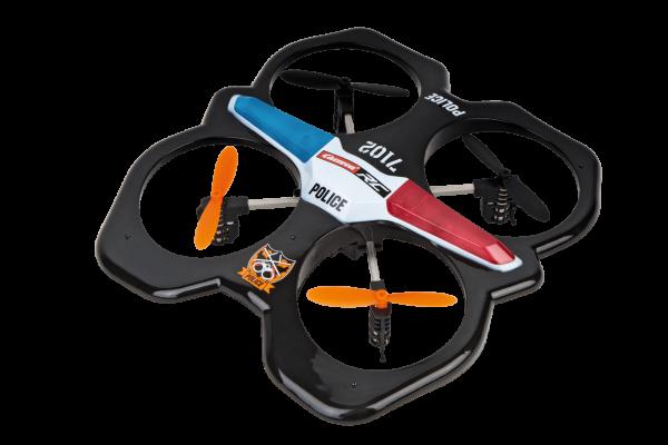 Drona Carrera RC Police Quadrocopter 0
