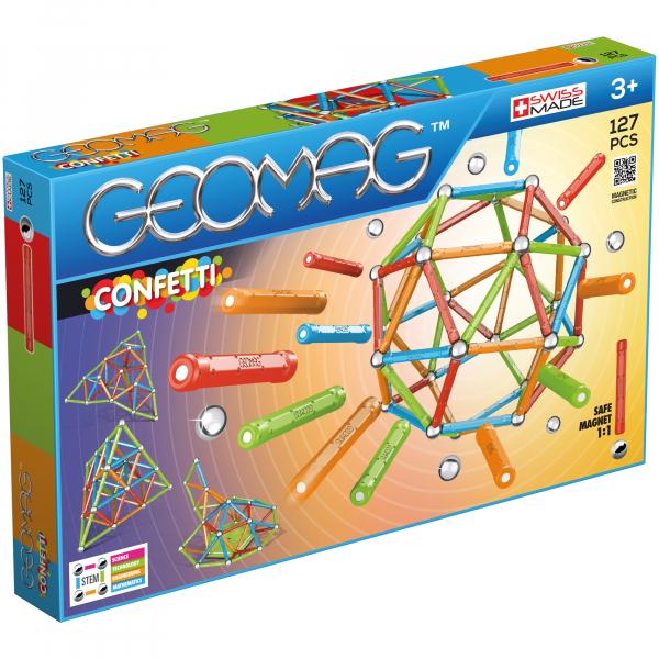 Set de constructie magnetic Geomag, Confetti, 127 piese 0