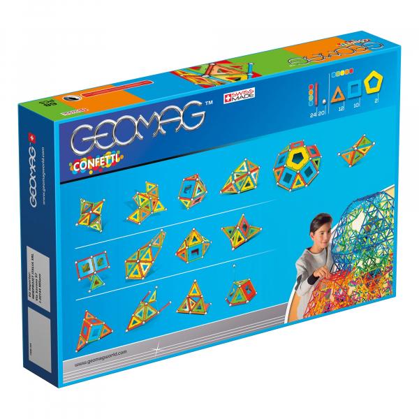 Set de constructie magnetic Geomag Confetti 68 piese 1