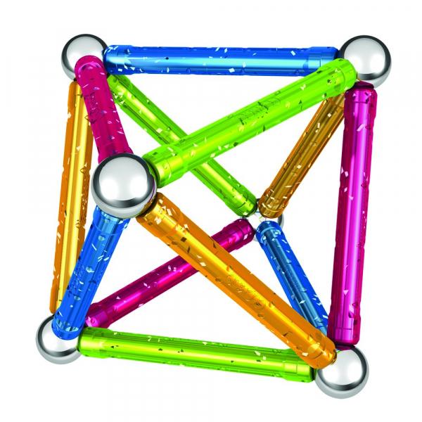 Set de constructie magnetic Geomag Glitter 30 piese [1]