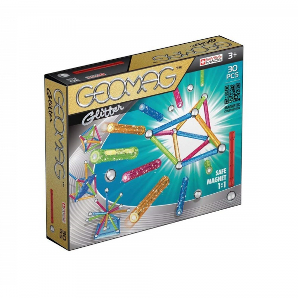 Set de constructie magnetic Geomag Glitter 30 piese [0]