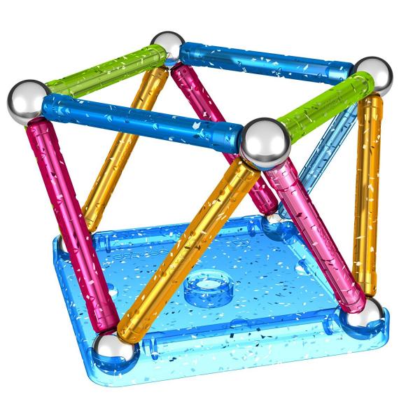 Set de constructie magnetic Geomag Glitter 30 piese [3]
