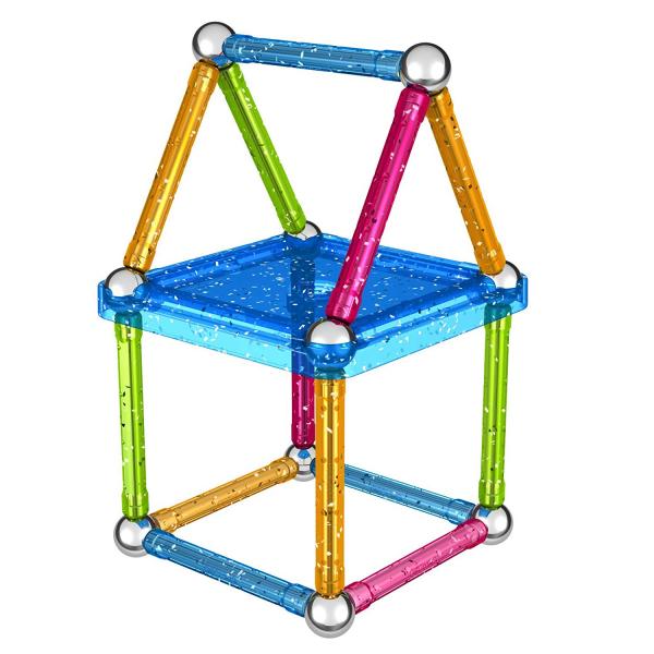 Set de constructie magnetic Geomag Glitter 30 piese [4]