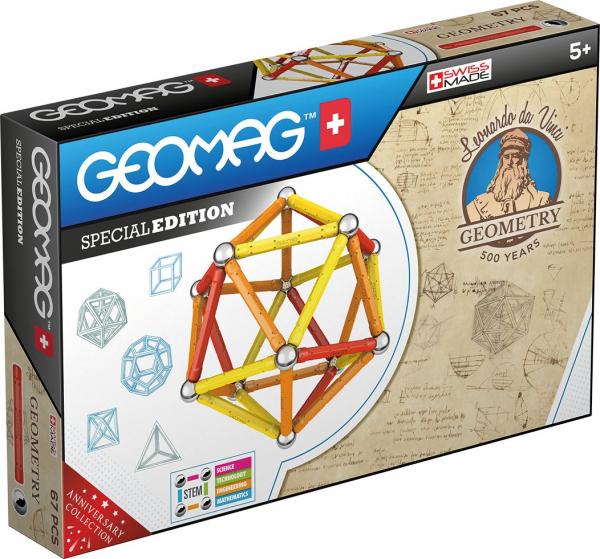 Set de constructie magnetic Geomag Editie Speciala Leonardo da Vinci 67 piese [0]