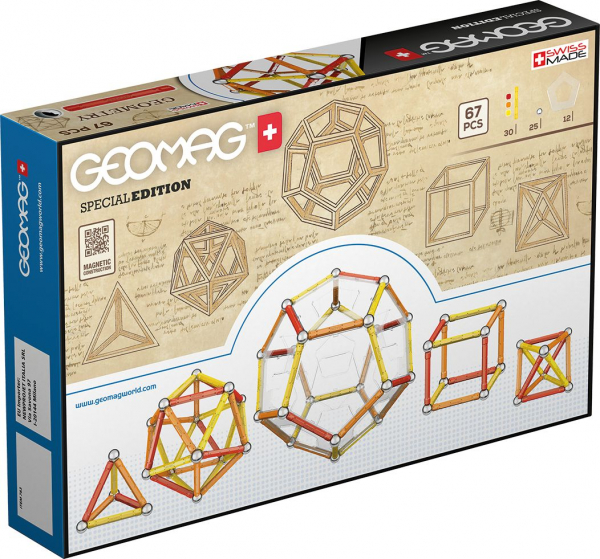 Set de constructie magnetic Geomag Editie Speciala Leonardo da Vinci 67 piese [1]