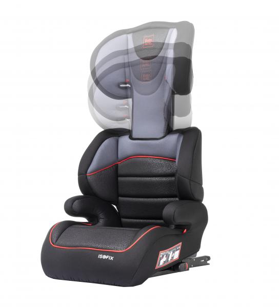 Scaun auto Babyauto Jan FIX PLUS, Isofix, 15-36 Kg, Negru/Gri 3