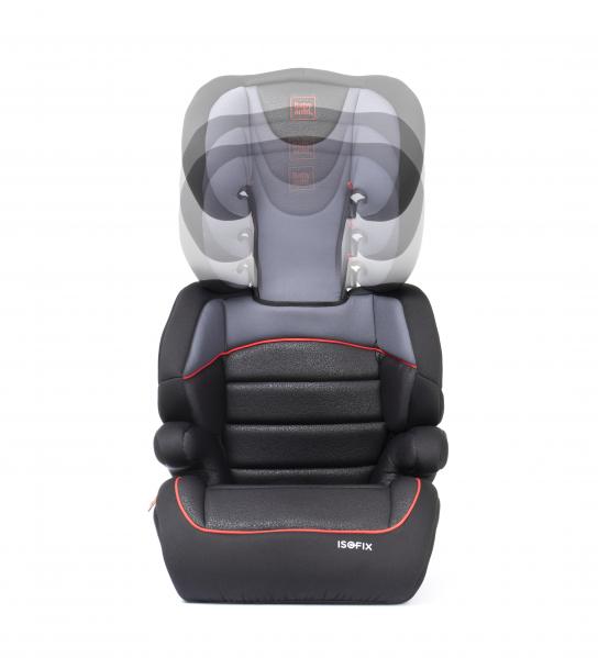 Scaun auto Babyauto Jan FIX PLUS, Isofix, 15-36 Kg, Negru/Gri [7]