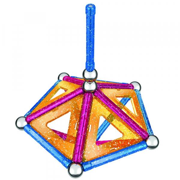 Set de constructie magnetic Geomag Glitter 44 piese 5