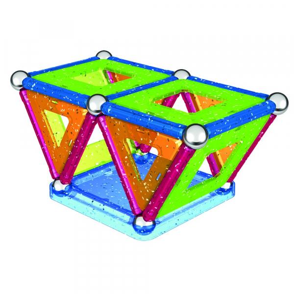 Set de constructie magnetic Geomag Glitter 44 piese 2