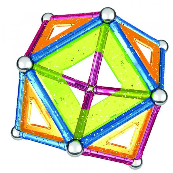 Set de constructie magnetic Geomag Glitter 44 piese 1