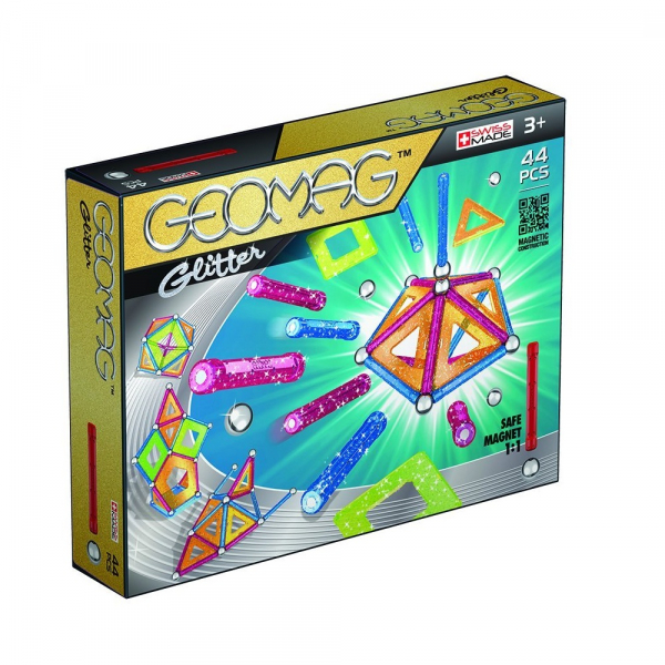 Set de constructie magnetic Geomag Glitter 44 piese 0