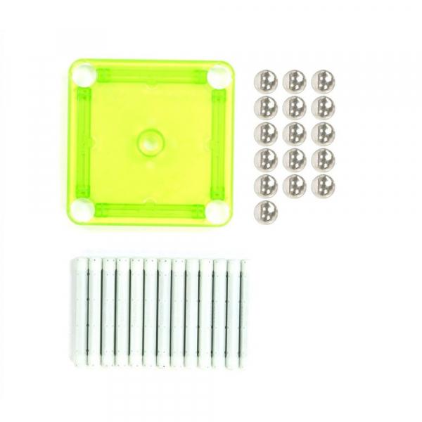 Set de constructie magnetic Geomag Glow 30 piese 1