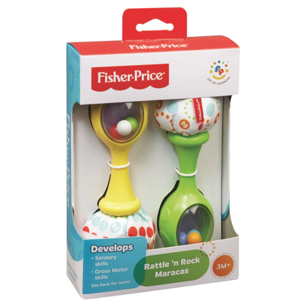 Set jucarie zornaitoare, Fisher-Price, 2 maracase, multicolor 1