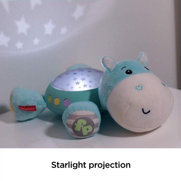 Lampa de veghe Fisher Price, Hippo de plus cu proiector si muzica 6
