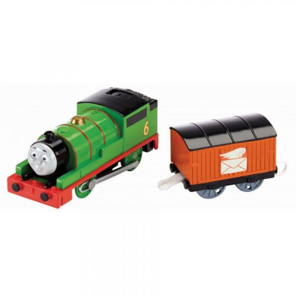Locomotiva trenulet motorizat Percy cu vagon posta Thomas & Friends TrackMaster 2