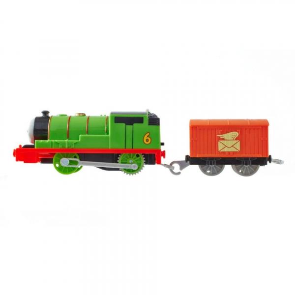 Locomotiva trenulet motorizat Percy cu vagon posta Thomas & Friends TrackMaster 4