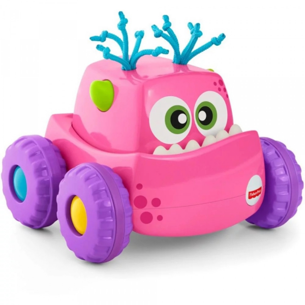Masinuta Fisher Price Monster, roz 0