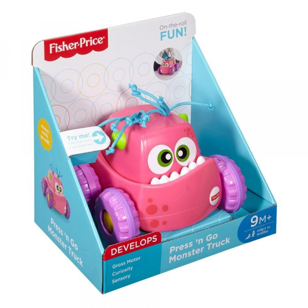 Masinuta Fisher Price Monster, roz 1