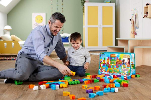 Set Fisher-Price Cuburi Colorate de Construit Mega Bloks 150 de piese [4]