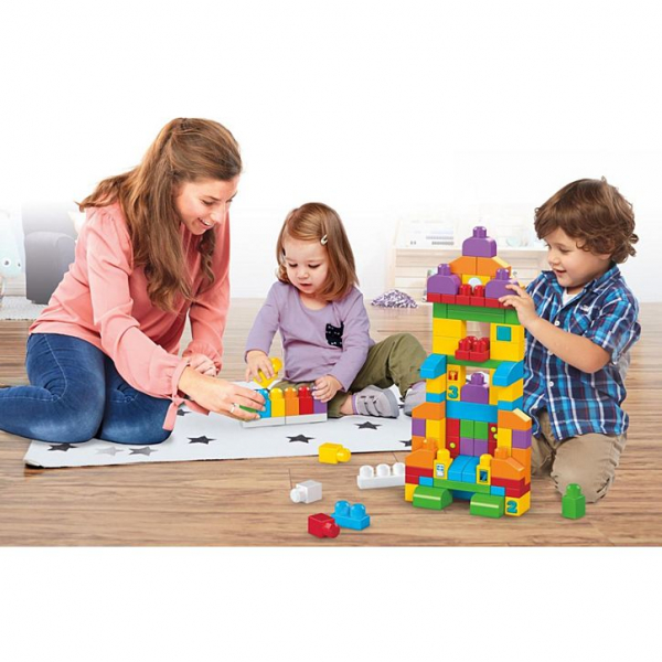 Set Fisher-Price Cuburi Colorate de Construit Mega Bloks 150 de piese [5]
