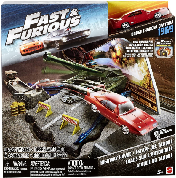Set de joaca Fast and Furious Hot Wheels Atacul tancului 5