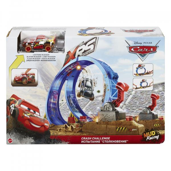 Set de joaca Crash Challenge XRS Mud Racing Cars 3 0
