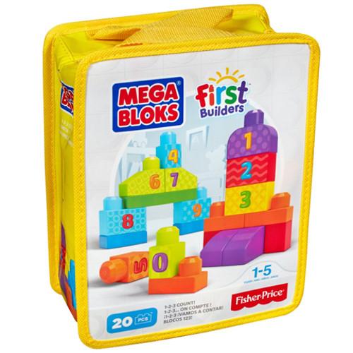Set Fisher-Price de Construit Numere 20 de Piese Mega Bloks 0