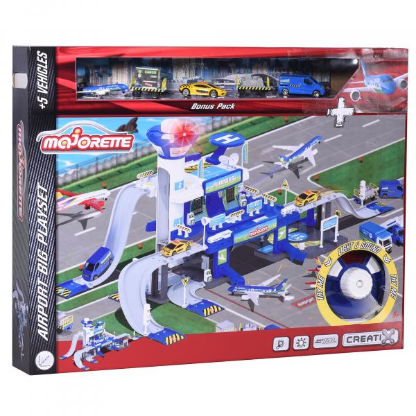 Set de joaca Majorette Creatix Aeroport, 5 vehicule incluse 0