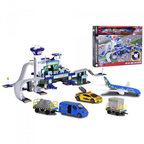 Set de joaca Majorette Creatix Aeroport, 5 vehicule incluse 4