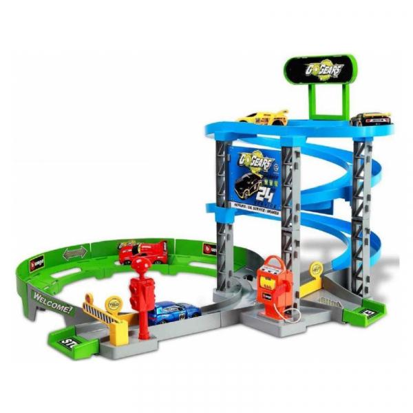 Set de joaca Bburago Go Gear Super Service, include 1 masina 1