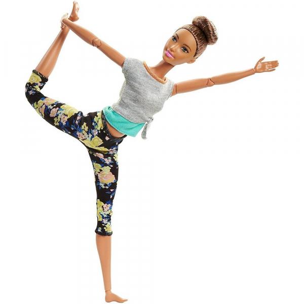 Papusa Mattel Barbie Flexibila Made To Move Mulatra 0