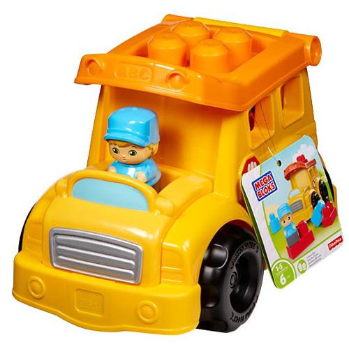 Autobuz Fisher-Price Scolar cu Cuburi Mega Bloks 0