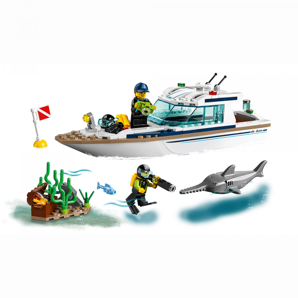 LEGO® City Great Vehicles - Iaht pentru scufundari 60221 4