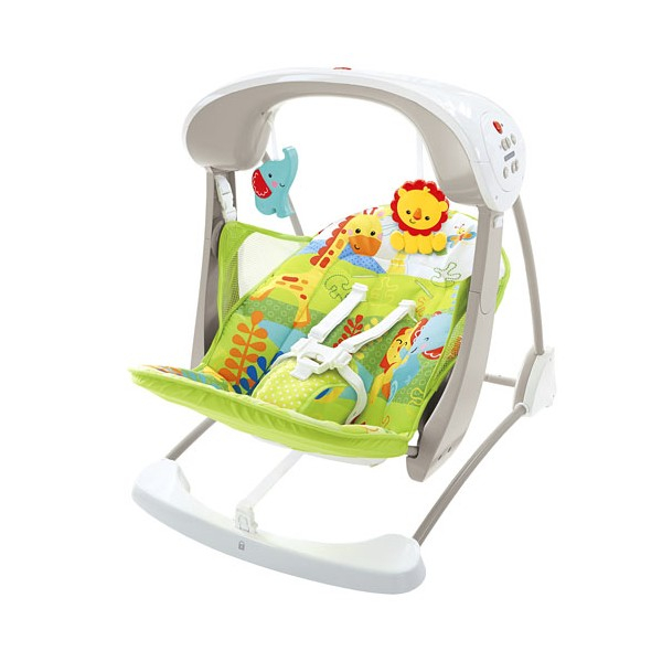 Leagan/Balansoar 2 in 1 Fisher Price Rainforest Friends Take Along 0