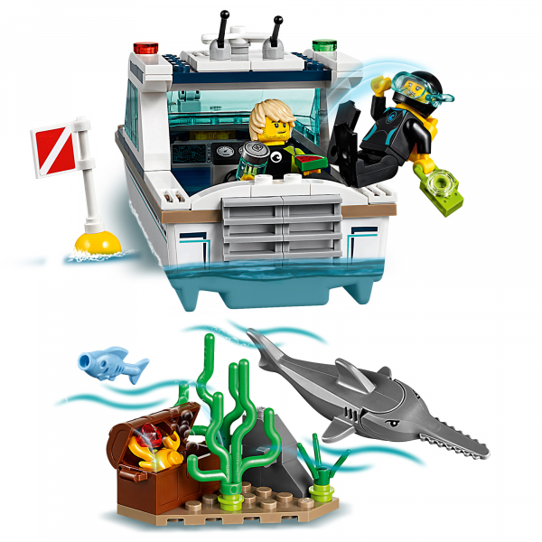 LEGO® City Great Vehicles - Iaht pentru scufundari 60221 3