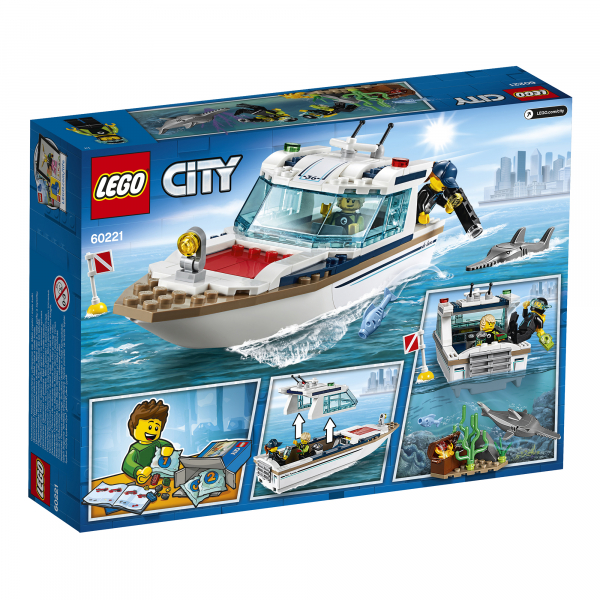 LEGO® City Great Vehicles - Iaht pentru scufundari 60221 6