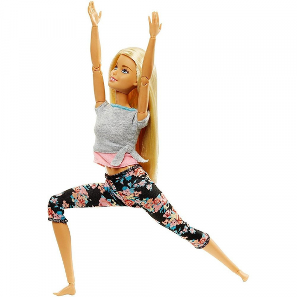 Papusa Mattel Barbie Flexibila Made To Move Blonda 0