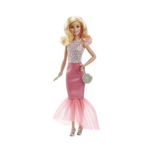Papusa Barbie Pink & Fabulous Pink Skirt Blonde 0