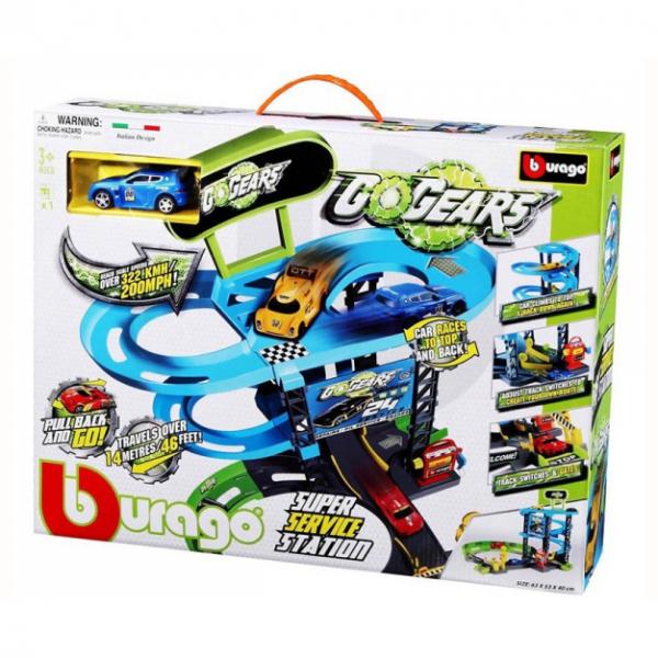 Set de joaca Bburago Go Gear Super Service, include 1 masina 0