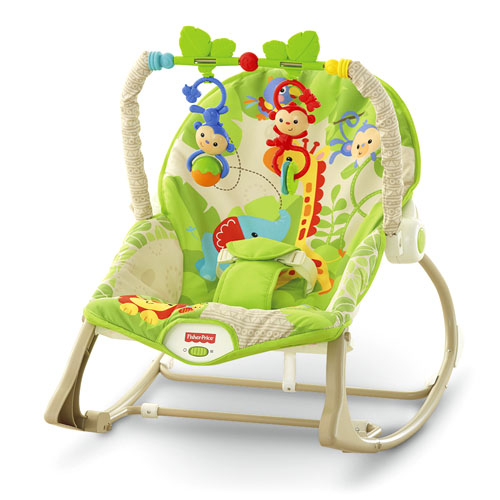 Balansoar Fisher-Price 2 in 1 Infant to Toddler Rainforest Friends 0