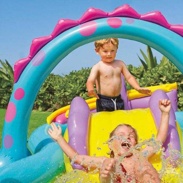 Centru de joaca cu piscina Intex Dinoland 333x229x112 cm 2